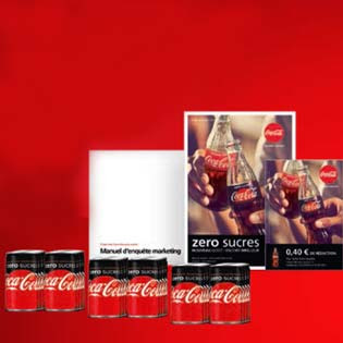 72000 Canettes Coca-cola zero sucres à tester !