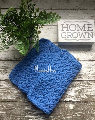 Handmade Cotton Dish Cloths Blue Washcloths