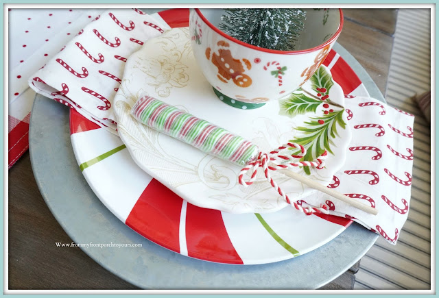 Cottage- Farmhouse -Christmas-Breakfast -Nook-Faux-Food-Fake-Lolliepop-From My Front Porch To Yours-