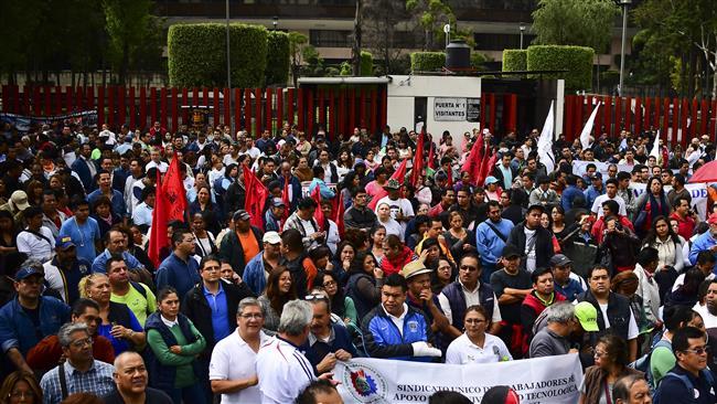 Fresh round of NAFTA talks open in Mexico amid labor rights protest