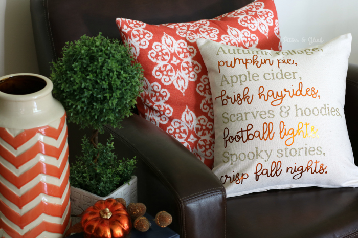 DIY Original Fall Poem Pillow