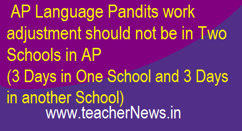 AP Language Pandits work adjustment should not be in Two Schools (3 Days in One School and 3 Days in another School)
