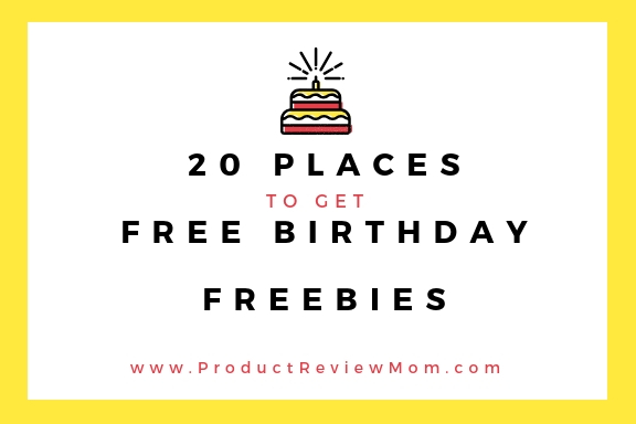 20 Places to Get Free Birthday Freebies  via  www.productreviewmom.com