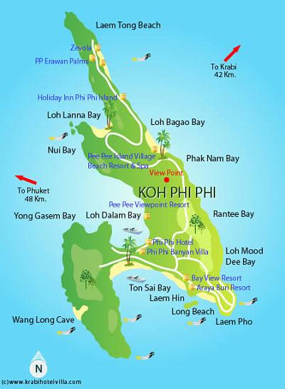 praias phi phi tailandia