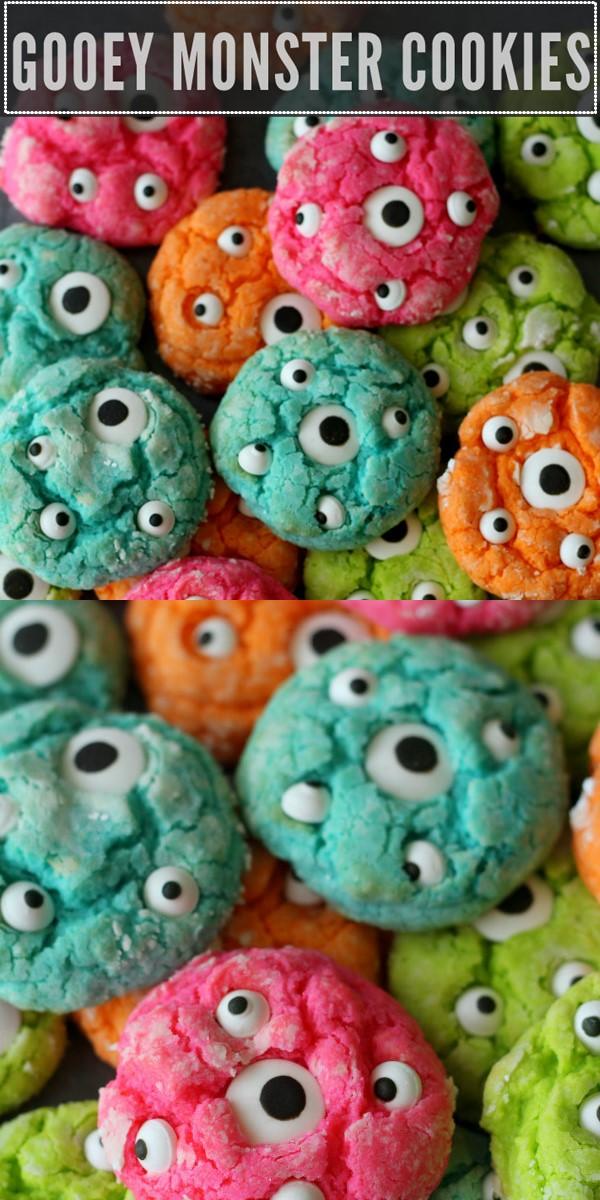 Gooey Monster Cookie Recipe #halloweenrecipes