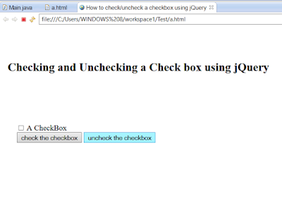 How to Check/Uncheck CheckBoxes in a Page using jQuery