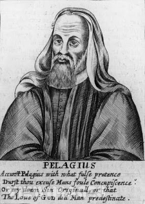 Augustine's ally Saint Jerome abused Pelagius intemperately as a  huge, bloated Alpine dog, weighed down with Scottish oats.