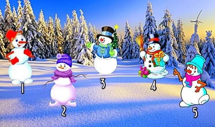 Выберите снеговика и узнайте, что вас ждет в Новом году!