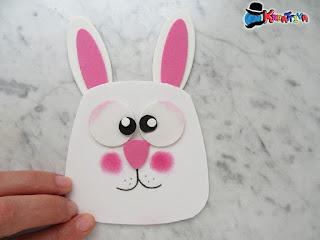 coniglio con fustella gufo - punch art