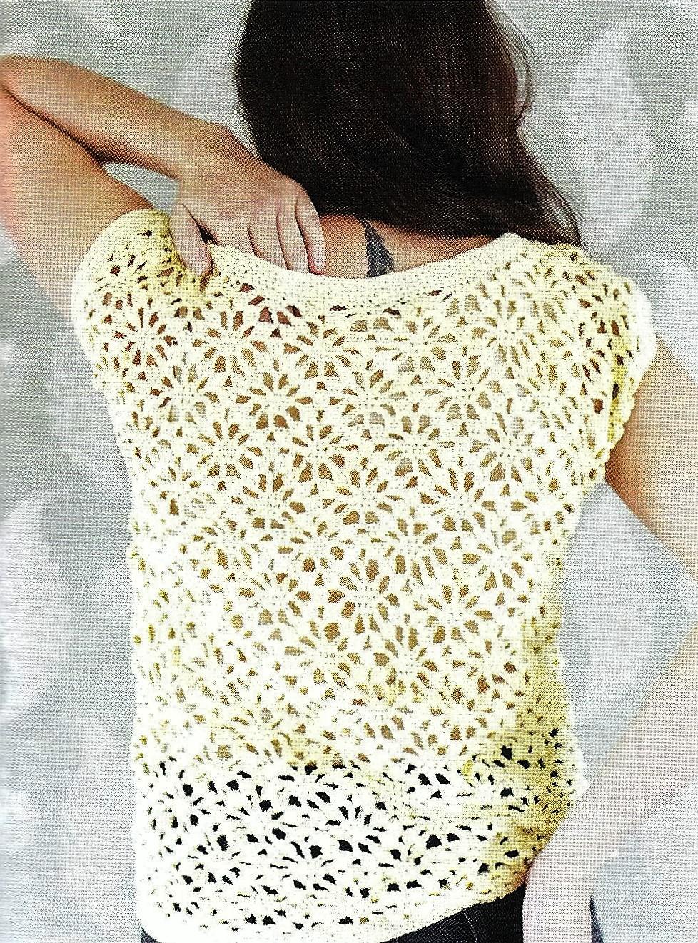 Crochet Square Motif Blouse Tutorial 69 Stitches Diagram