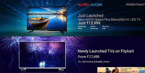 Newly Launched TVs From Rs.17,499 |Extra 10% off with All Cards on Laptops |Vivo V5s Now available @ Rs.18,990 and many amazing offers!