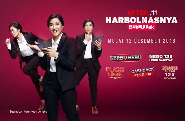 Bukalapak - Promo After.11 HARBOLNASNYA (Mulai 12 Desember 2018)