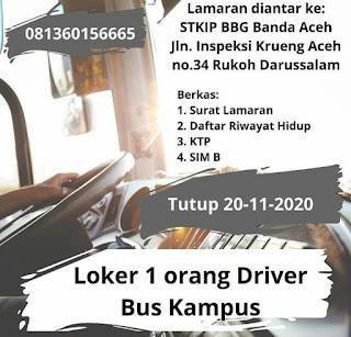 Lowongan Kerja Supir Bus Aceh