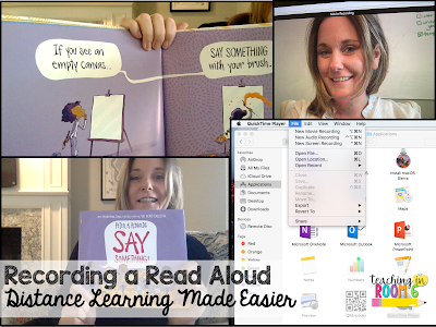 How to record basic read aloud stories for the students during our remote learning.