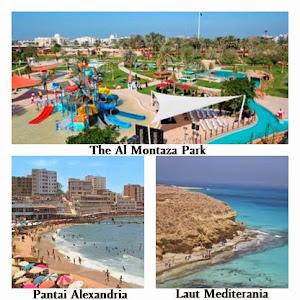 The Al Montaza Part, Pantai Alexandria, Laut Mediterania