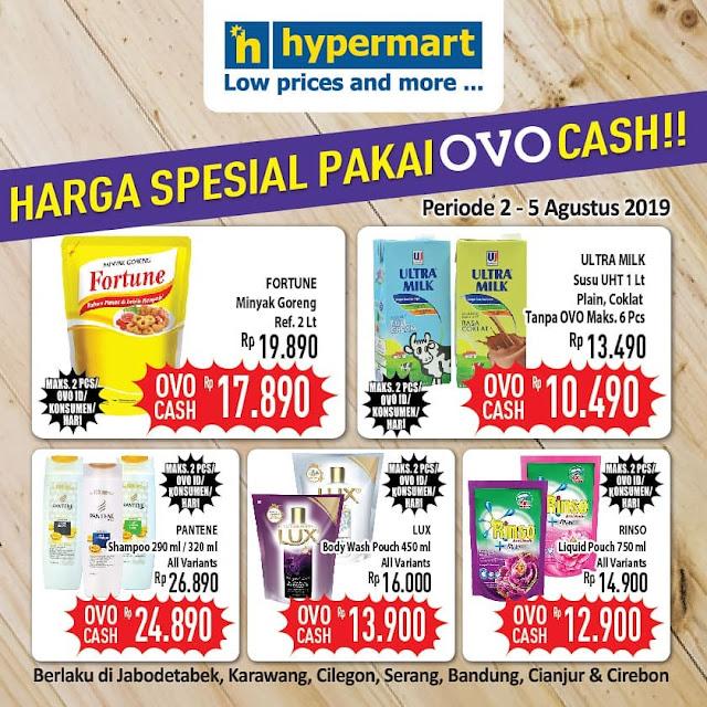 #Hypermart - #Promo Harga Spesial Pakai OVO Cash (s.d 05 Agustus 2019)