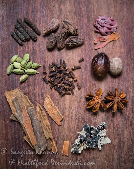 aromatic garam masala spices