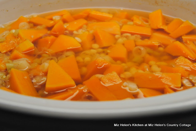 Slow Cooker Butternut White Bean Soup at Miz Helen's Country Cottage