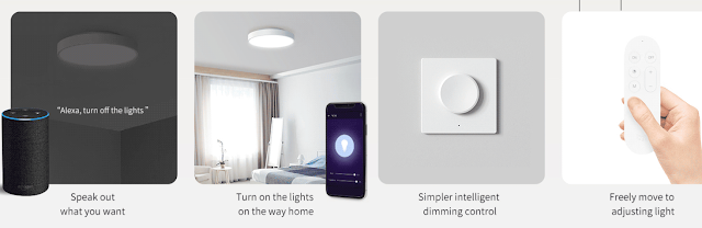 Xiaomi Yeelight YLXD41YL 320mm Smart LED - Promoção