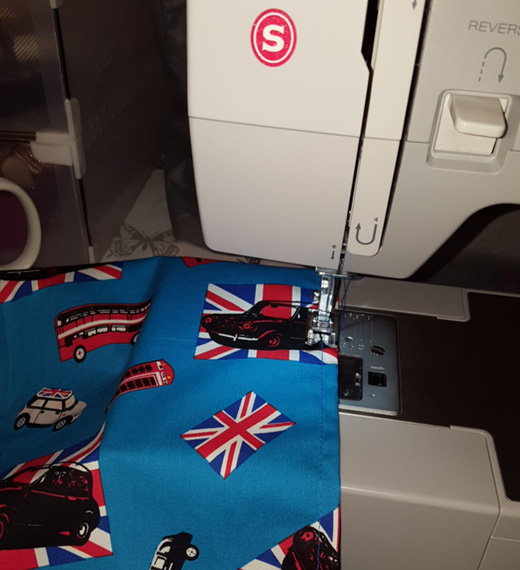 Choosing new fabric for a child's deckchair