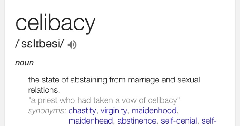 Celibate dating definition dictionary