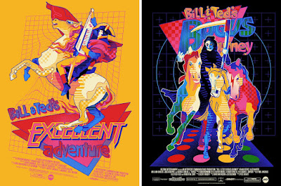 Bill & Ted's Excellent Adventure and Bill & Ted's Bogus Journey Screen Prints by We Buy Your Kids x Mondo