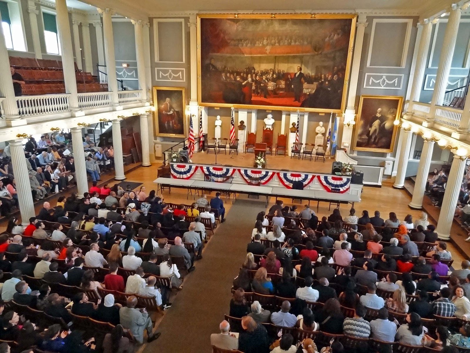 Joe's Retirement Blog: Citizenship Ceremony, Faneuil Hall