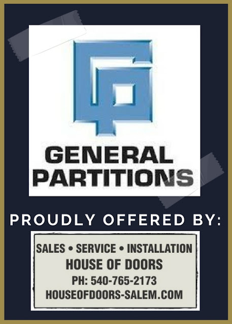 General Partitions toilet partitions sold, serviced and installed by House of Doors - Roanoke, VA