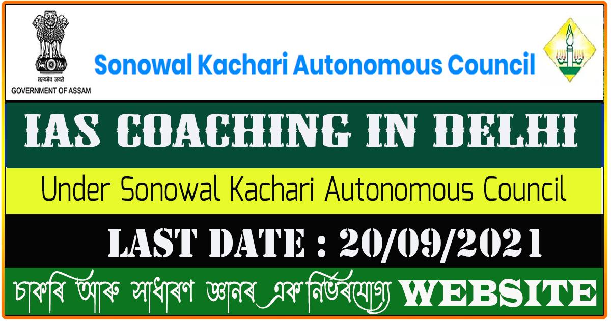 IAS Coaching by Sonowal Kachari Autonomous Council
