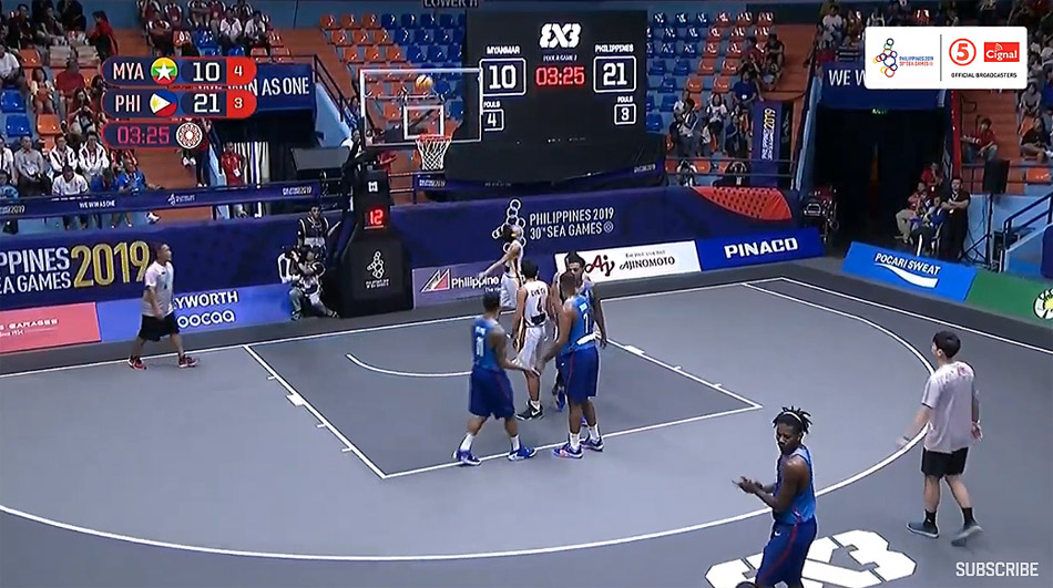 Gilas Pilipinas def. Myanmar, 21-10 (VIDEO) Men's 3x3 | SEA Games 2019