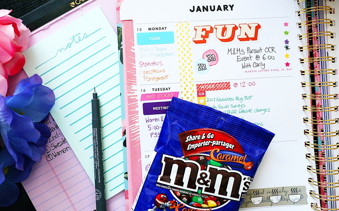 ban.do floral planner agenda 2018 decorated M&Ms