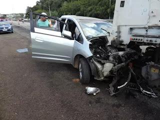 Honda Fit roubado bate na rodovia Constâncio Cintra e marginais são detidos pela Guarda Municipal de Jundiaí
