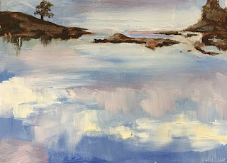 Cloud reflections, painted en plein air in the Stockholm archipelago by Philine van der Vegte