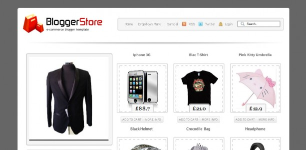 Online Store Blogger Template Blogger Store An E Commerce Template