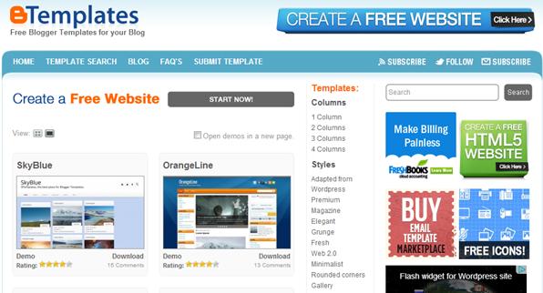 btemplates blogger templates