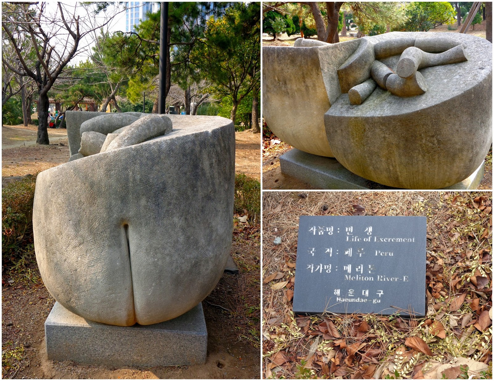 Life of Excrement, sculpture in Olympic Park, Busan