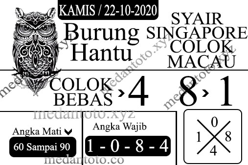 Kode syair Singapore Kamis 22 Oktober 2020 109