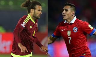 Chile vs Venezuela en Eliminatorias hacia el Mundial Rusia 2018