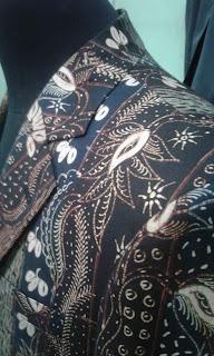Kerah jas batik