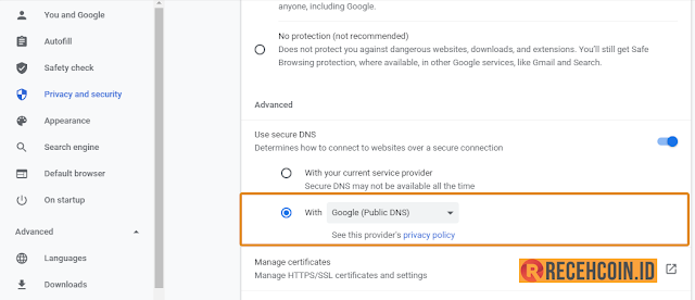 setting vpn di chrome