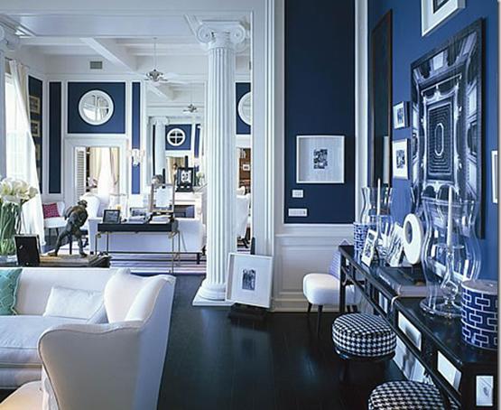 Midnight Blue Living Room Inspiration