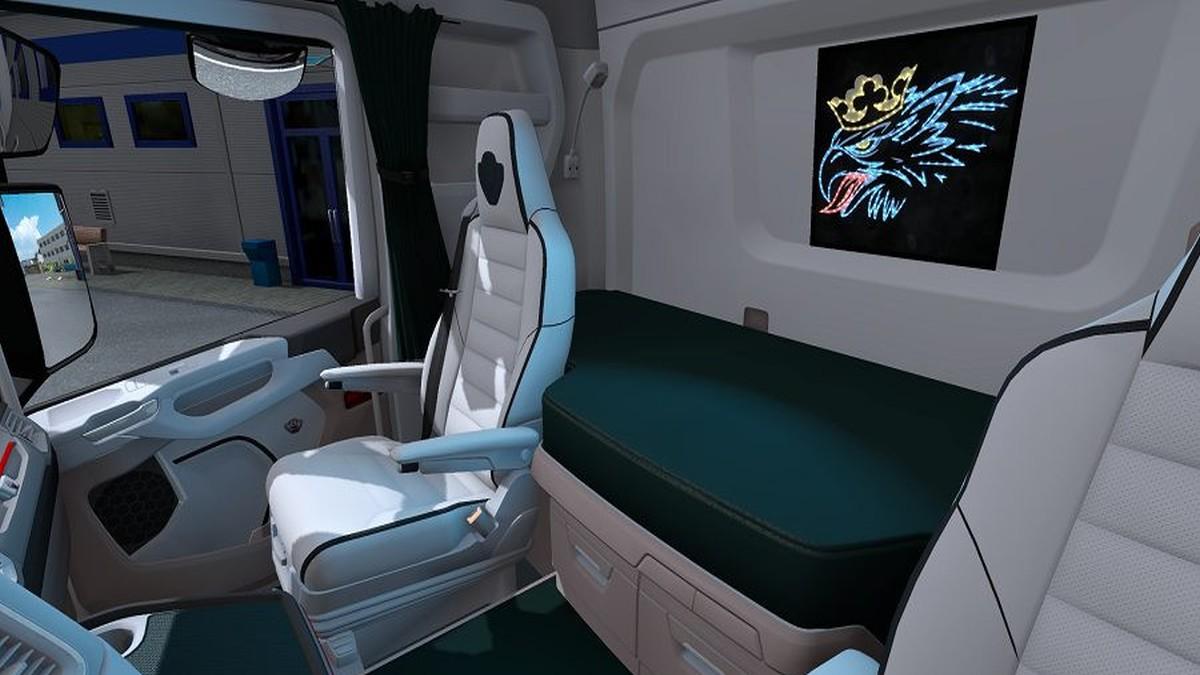 Scania 2016 Interior White Green