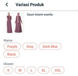 Jual Gaun Islami Wanita