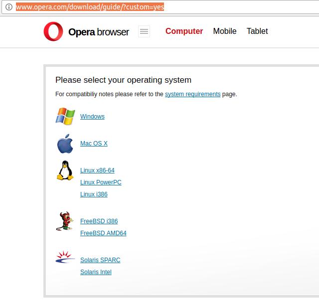 Установка браузера
