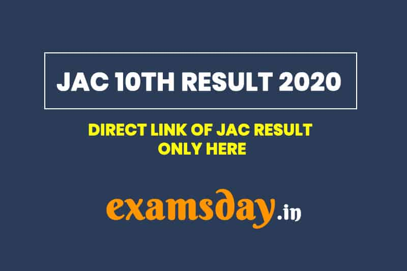 JAC 10th Result 2020