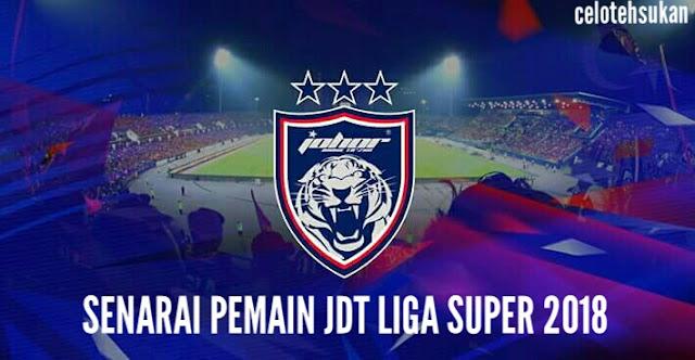 Senarai Pemain JDT 2018 Liga Super
