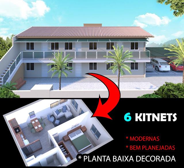 projeto de kitnet para alugar