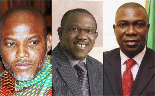 Nnamdi Kanu, Peter Obi, Ike Ekweremadu