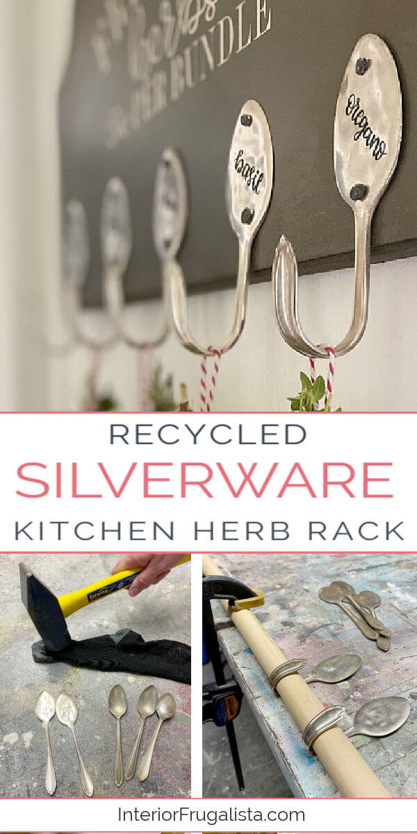Recycled Silverware Kitchen Herb Rack