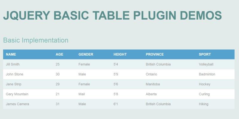 輕鬆做出美觀的自適應 RWD 表格(Table)﹍jQuery 輕量外掛